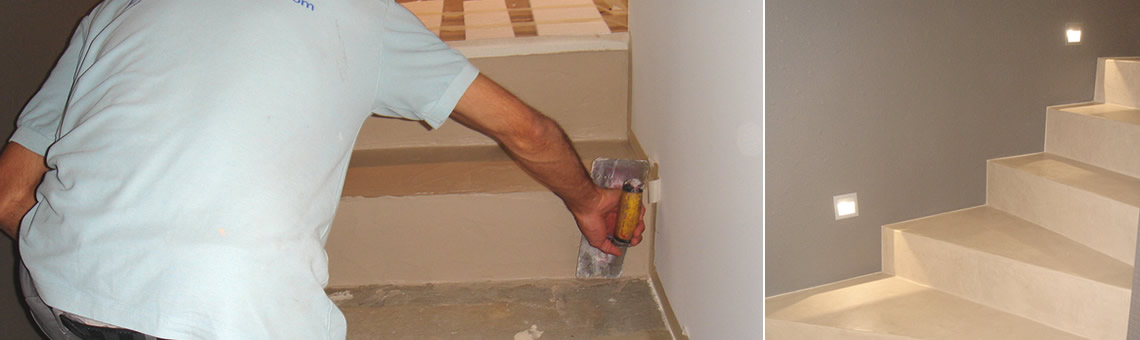 B ton cir hautes performances pour escaliers r novation for Beton cire escalier bois